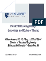 2014.05.14 - Industrial Building Design Guidelines and Rules of Thumb