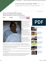 Without Compensation, Kasthuri Munirathinam to Return on Saturday - Rediff