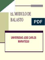 El Modulo de Balasto