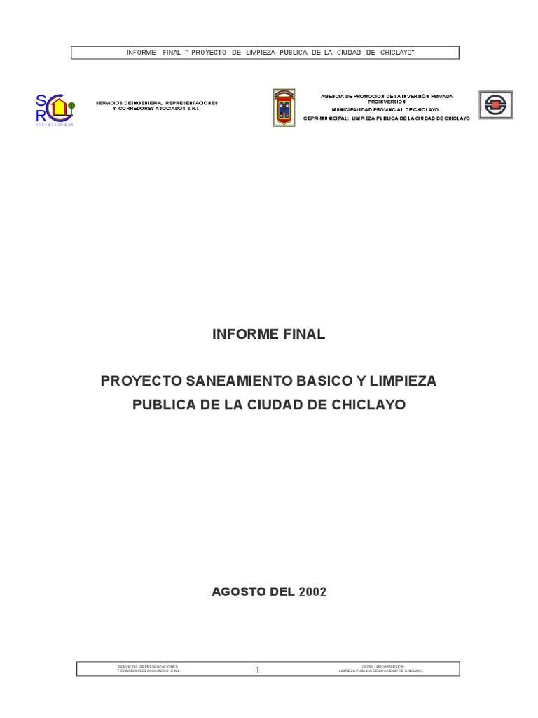 Informe Final Limpieza Publica