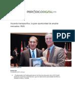 01-11-2015 Periódico Digital - Acuerdo Transpacífico, La Gran Oportunidad de Ampliar Mercados, RMV