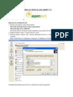 Panduan Instalasi Aspen 7.2