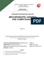 Programa de Estudio Mecanografía asistida por computadora