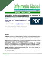 Efecto de Una Estrategia Educativa Participativa en El Desarrollo Del Pensamiento Crítico en Estudiantes de Enfermería