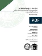 2015 Community Survey Report - Portland