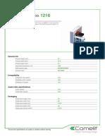 Comelit 1216 Data Sheet
