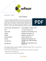 Lição 06 - Pronomes Reflexivos