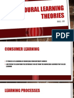 Behavioural Learning Theories