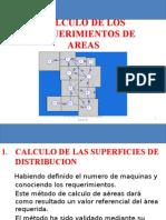 Calculo de Los Requerimientos de Areas