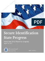 Secure Identification (REAL ID) State Progress DHS 2012