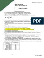 Lista Algoritmos Etapa 1