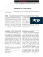 Dyslipidemia in Dialysis Patients