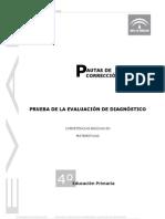 Prueba evaluación diagnóstica competencia matemática_Andalucía2009_4º EPO