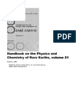 Gschneidner k.a., Eyring l. (Eds) Handbook on the Physics and Chemistry of Rare Earths. Vol.21 (Elsevier, 1995)(Isbn 0444821783)(t)(427s)