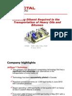 trasportation heavy oil