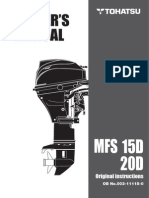 Tohatsu MFS 15-20D Outboard Motor