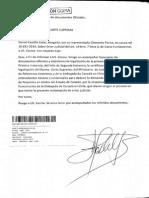 Documentos de José Miguel Insulza presentados a La Corte Suprema.