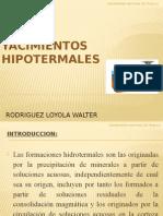 YACIMIENTOS HIPOTERMALES