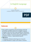 Research in ELT