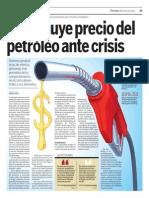 Crisis Disminuye Precio Petróleo