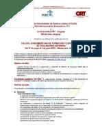 TALLER LATINO AMERICANO DE FORMACIÓN Y CAPACITACIÓN DE EVALUADORES EXTERNOS