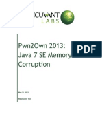 Pwn2own 2013 - Java 7 Se Memory Corruption