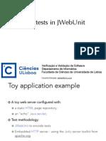 Unit Test with Jwebunit