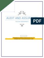 Audit and Assurance Final Term Assignment's