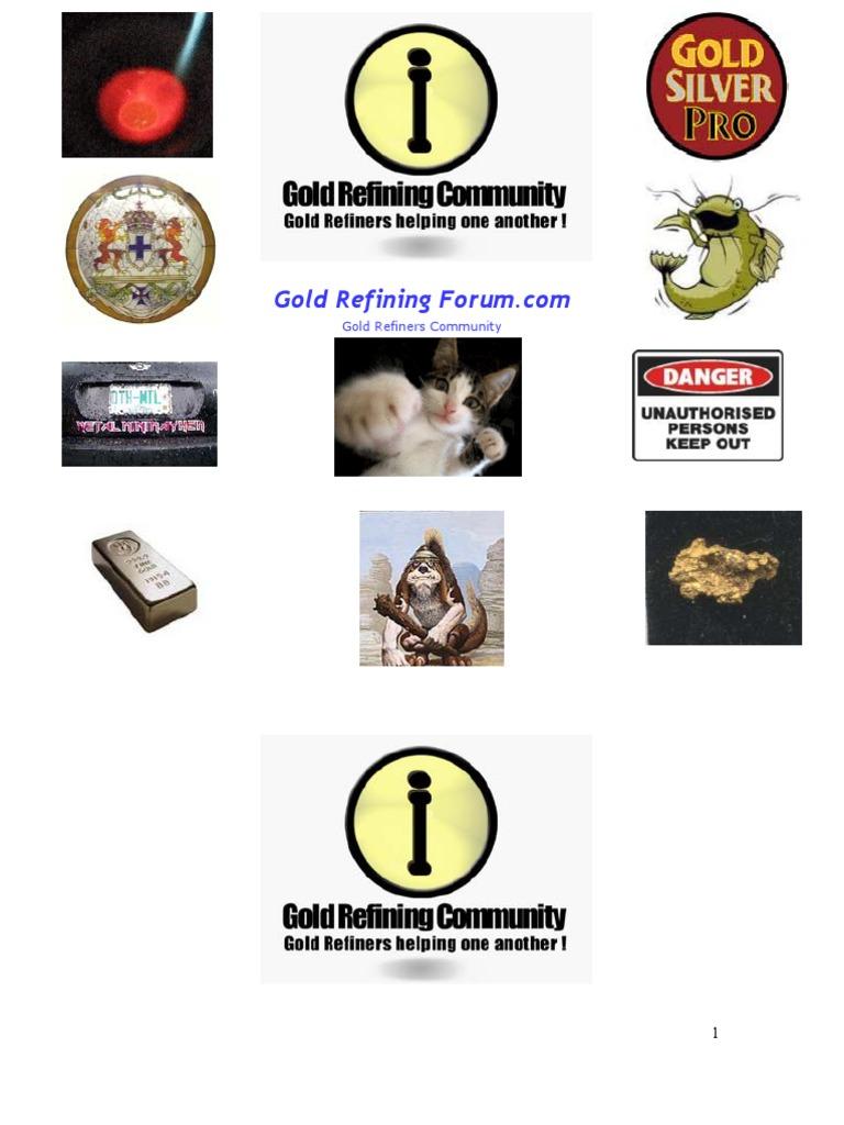 Gold Refining Forum Hanbook Vol 1 Nitric Acid Solubility We Buy Scrap Silver Platinum Palladium And Circuit Boards