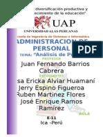 Administracion de PersonalANALISIS de PERSONAL