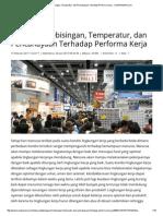 Pengaruh Kebisingan, Temperatur, Dan Pencahayaan Terhadap Performa Kerja - KOMPASIANA