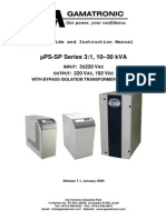 ΜPS-SP 10-30kVA 3-1 With Bypass Isolation Transformer (Option)