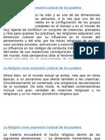 1.3 La Religión Como Expresión Cultural de Los Pueblos