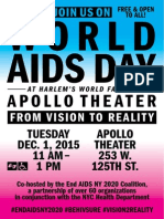 NYC World AIDS Day 2015 Coalition Event SaveTheDate Flyer English