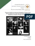 Resumen Gestión de Colecciones Fotográficas
