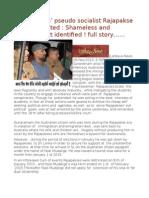 'Venda Lenin' Pseudo Socialist Rajapakse Stooge Arrested Shameless and 'Faceless' Yet Identified ! Full Story……