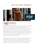PTA Detainees in Sri Lanka Prospects for Justice