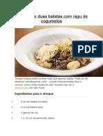 Nhoque de Duas Batatas Com Ragu de Cogumelos
