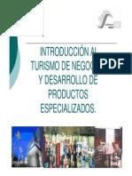 Introduccion Al Turismo de Negocios y Desarrollo de Productos Especializados
