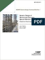 Seismic Design of Reinforced Concrete Special Moment Frames