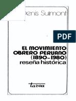 279817470 DENIS SULMONT El Movimiento Obrero Peruano 1890 1980 Resena Historica Primera y Segunda Parte PDF