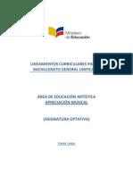 Lineamientos Curriculares Para El Bachillerato - Artistica