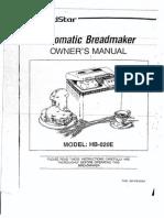 Goldstar Automatic Breadmaker Manual