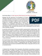 Surat Superior Jenderal OMI - 200 Tahun Kongregasi OMI