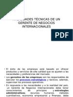 Habilidades Técnicas de Un Gerente de Negocios Internacionales