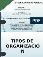 1.1.2 Formas y Tipos de Estructuras Organizacionales