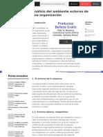 Analisis Del Ambiente Externo de Una Organización
