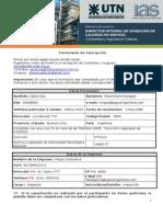 Formulario de Inscripción - Diplomatura Internacional en Inspector Integral de Condición de Calderas en Servicio (Completa)