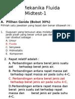 Soal Mekanika Fluida Mid Test 1