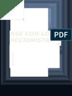 Responsabilidad Social Empresarial Con Los Accionistas
